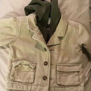 Old Navy corduroy kahki jacket fir babies
